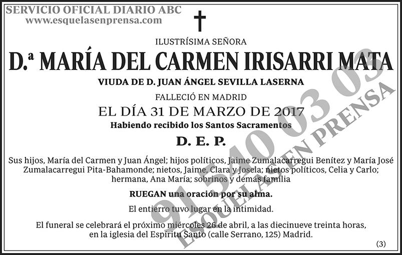 María del Carmen Irisarri Mata